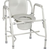 Deluxe Steel Drop-Arm Commode (Knocked-Down Frame)