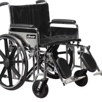 Bariatric Sentra Extra-Heavy-Duty Wheelchair (Dual Cross Brace)