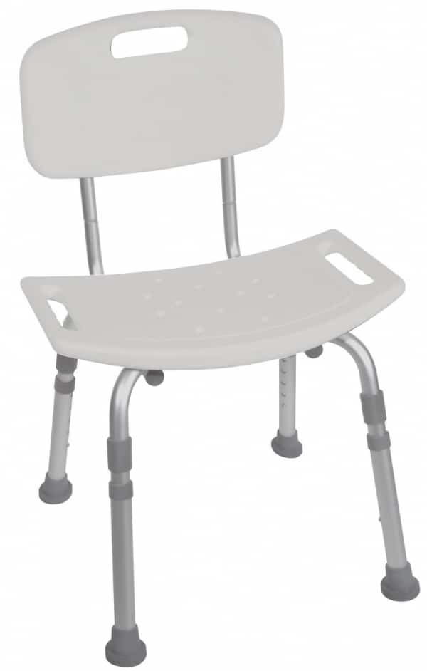 Deluxe Aluminum Shower Chair (With Tool-free Removable Back)