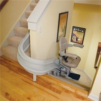 Curved Rail Elite CRE-2100 Stairlift (Commercial Stairlift, Stair Lift)