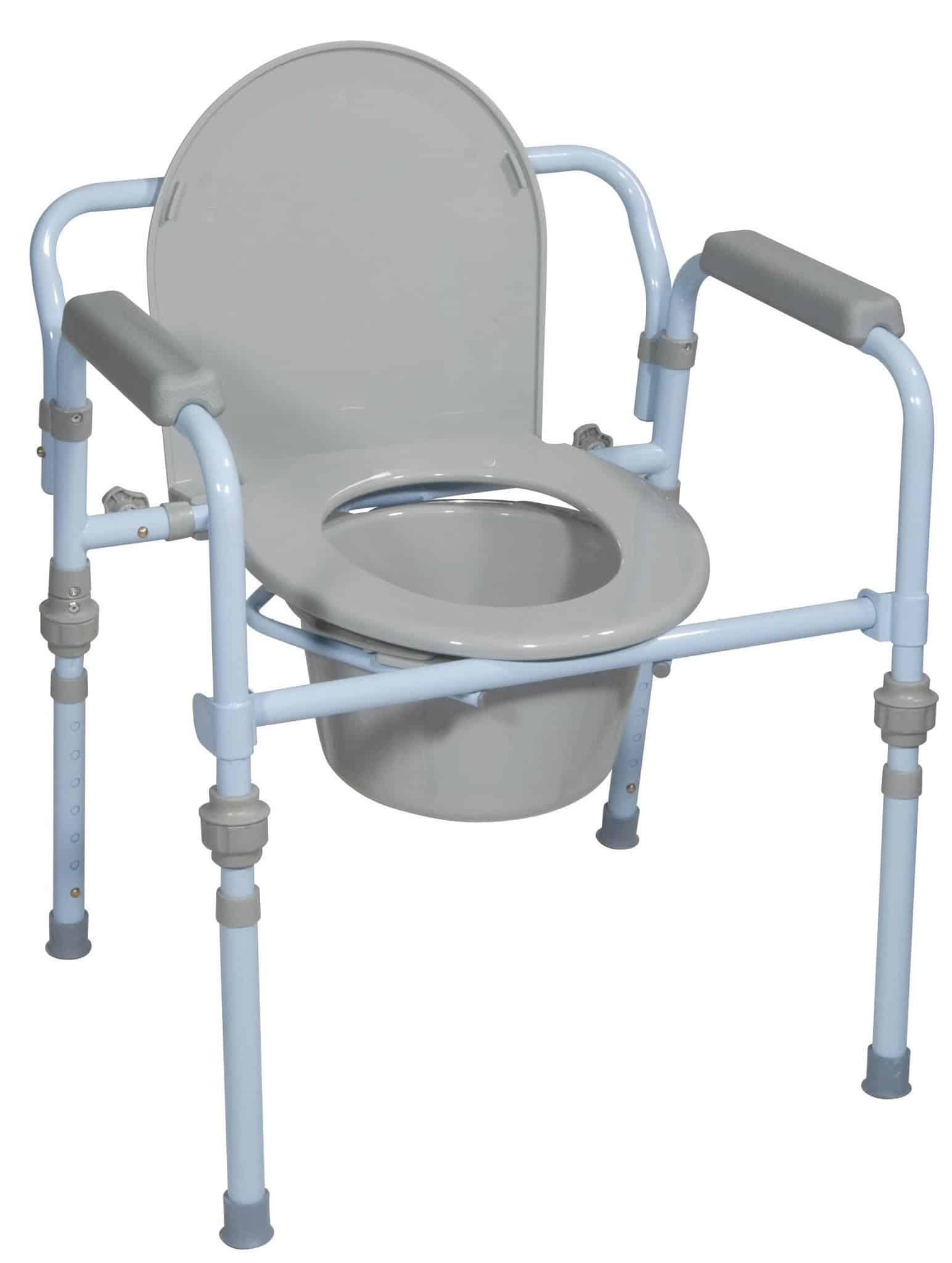 Folding Steel Commode, Retail (Standard Seat Depth)