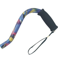 Offset Handle Aluminum Cane - Abstract